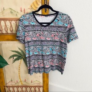 Hipster Striped Paisley Kim Rogers Top